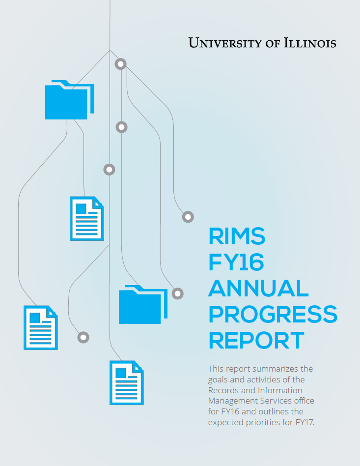 RIMS Annual Progress Report FY16